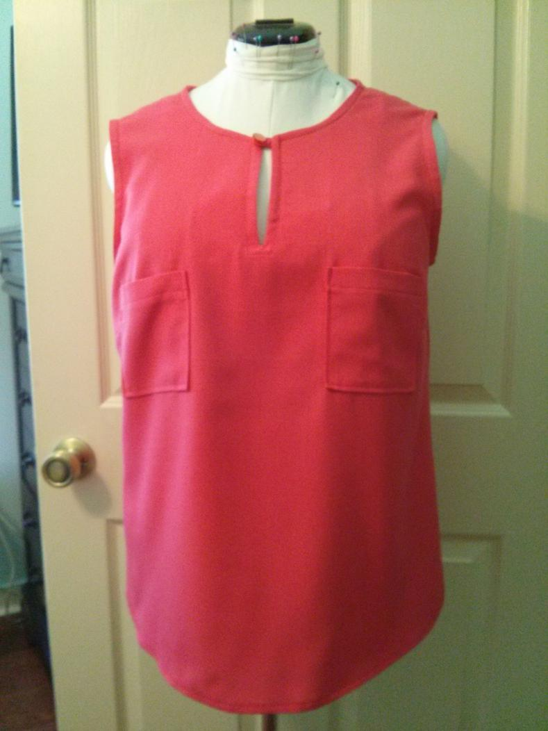 Sewing Challenge 2014-coral-linen.jpg