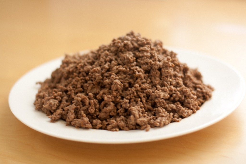 fried ground beef