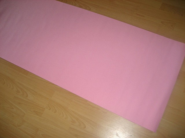 old yoga mat