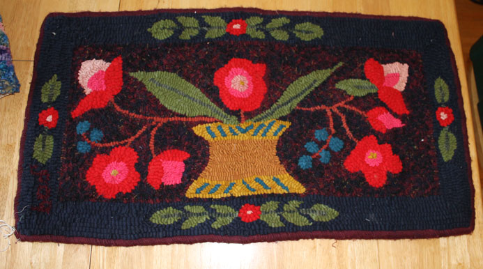 Want to Barter for Christmas Gifts????-rug-antique-posies.jpg