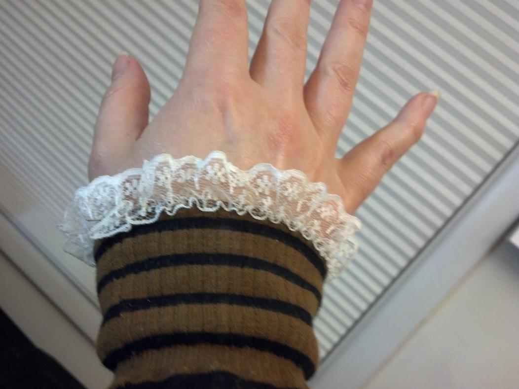 2015 recycle craft challenge-sock-arm-warmers-worn.jpg