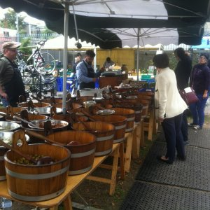 Dublin (DUB) - picking up some olives for our picnic lunch at a market in Dun Laoghaire